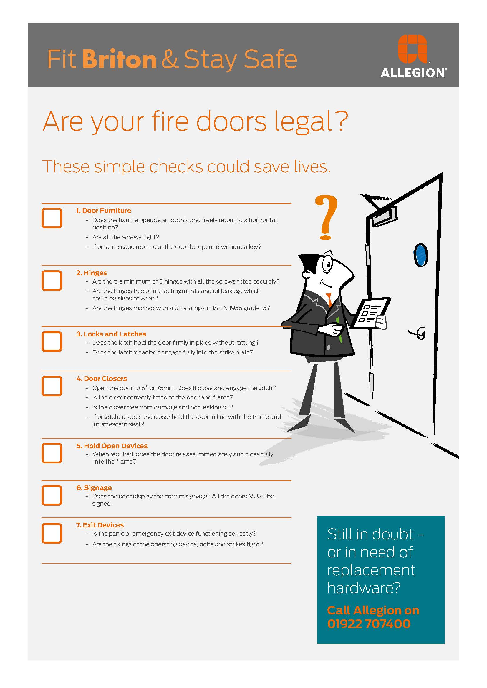 Allegion promotes the importance of fire door hardware